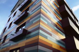 панели для вентфасадов цветные