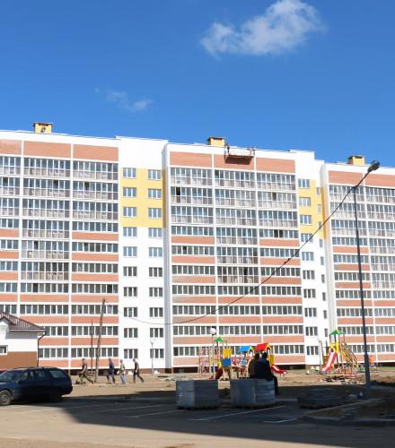 Фасадные работы для жилого дома по ул.Молодежная, 3