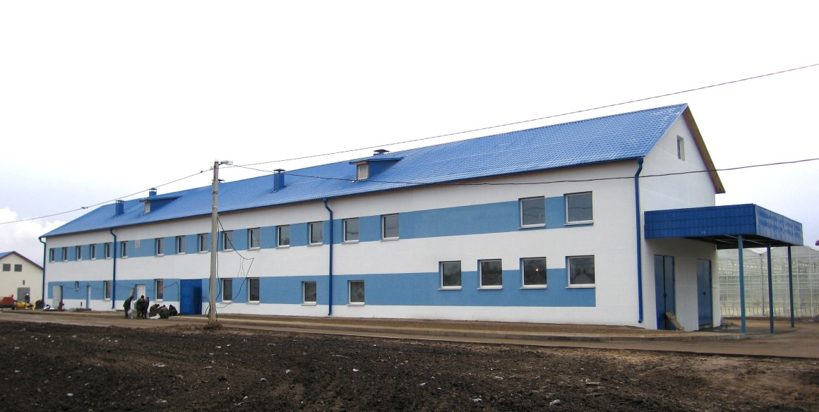 Фасадные работы и утепление фасада для здания Минской Овощной фабрики